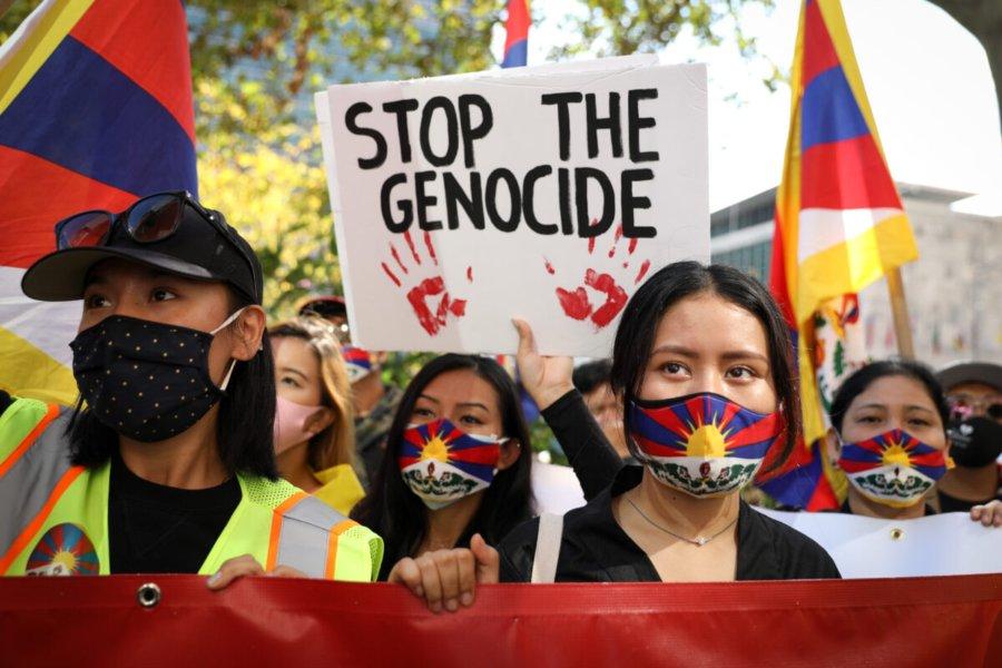 Manifestazione Tibetani contro genocidio