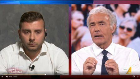 Parla il no Green Pass Marco Liccione: «Giletti continuava a tapparmi la bocca»